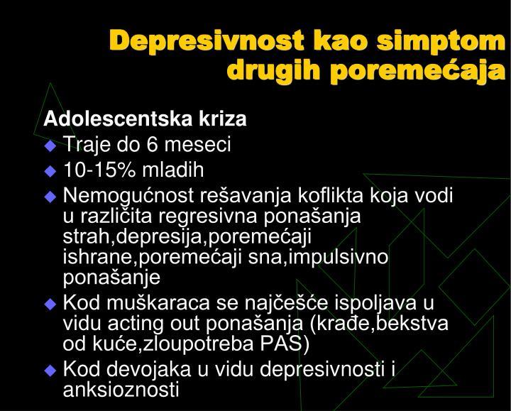 Depresivnost kao simptom drugih poremećaja