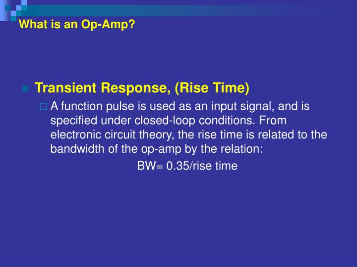 What is an Op-Amp?