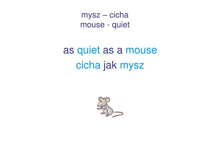 mysz – cicha