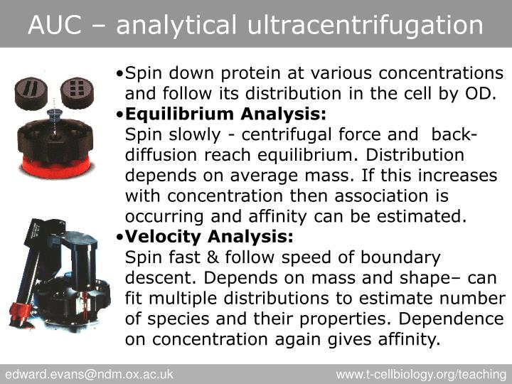 AUC – analytical ultracentrifugation