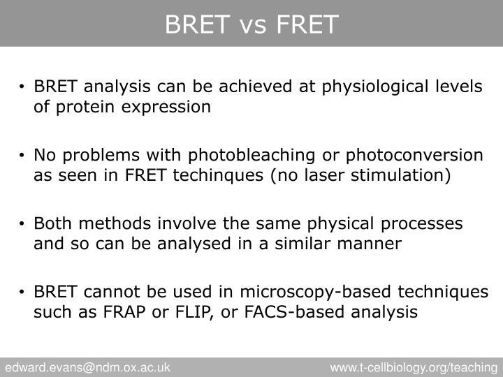 BRET vs FRET