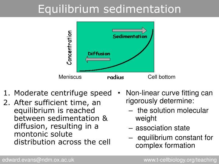 Equilibrium sedimentation