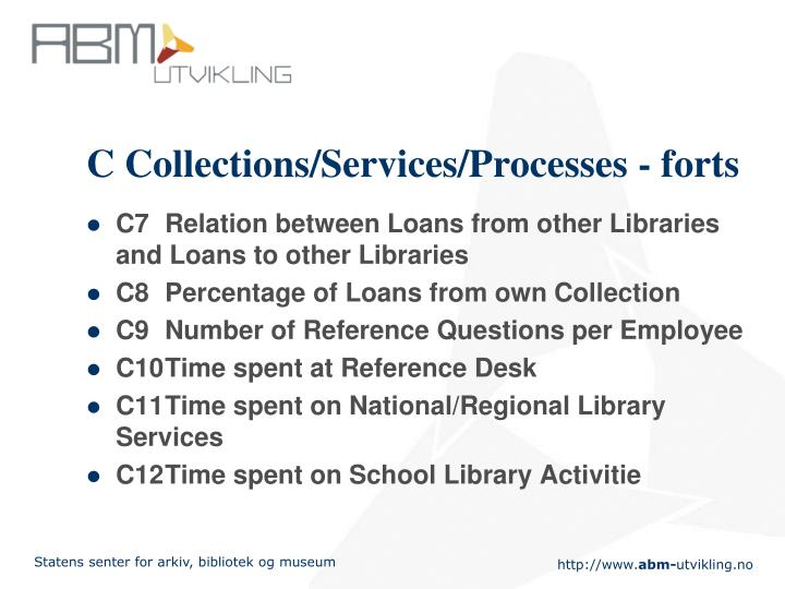 C Collections/Services/Processes - forts