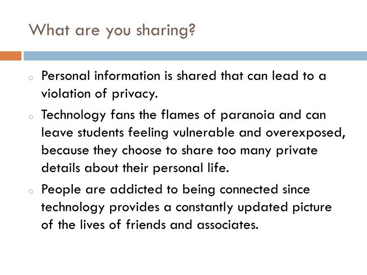 What are you sharing?
