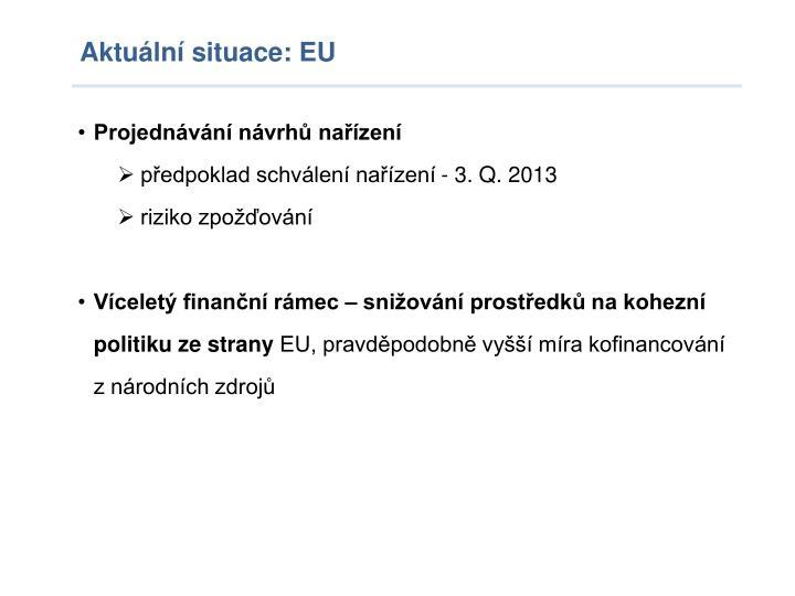 Aktuální situace: EU