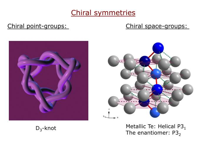 Chiral symmetries