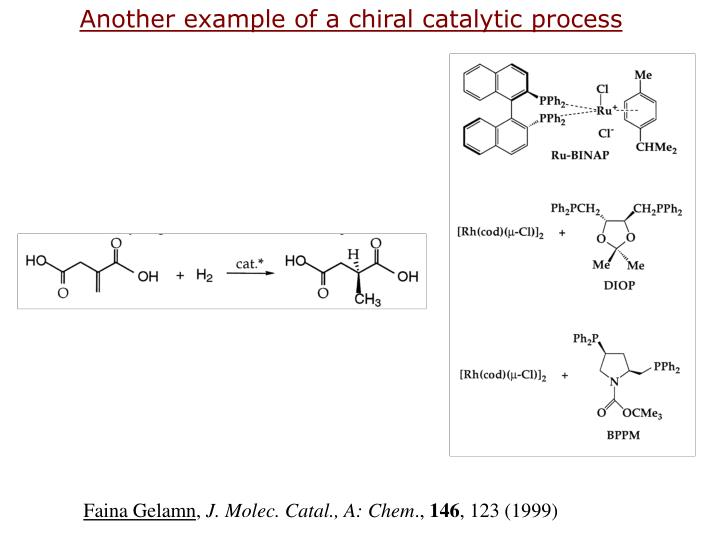 Another example of a chiral catalytic process