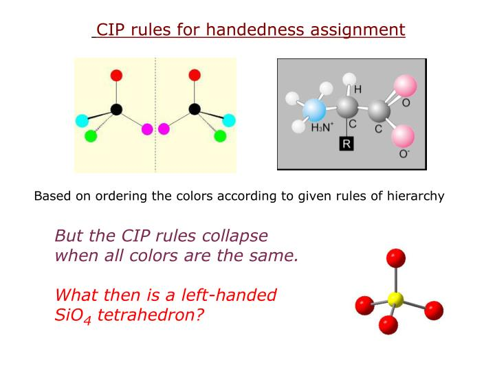 CIP rules for handedness assignment
