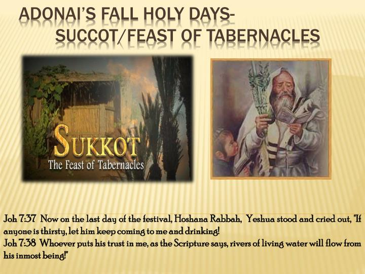 Adonai's Fall Holy Days-