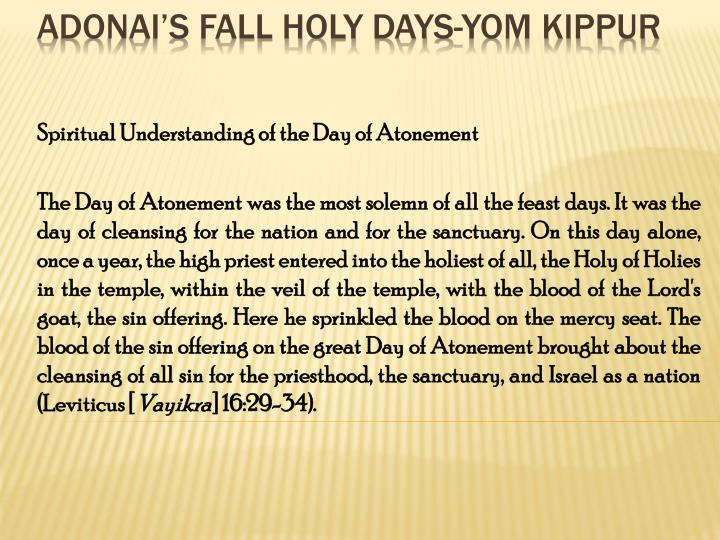 Spiritual Understanding of the Day of Atonement
