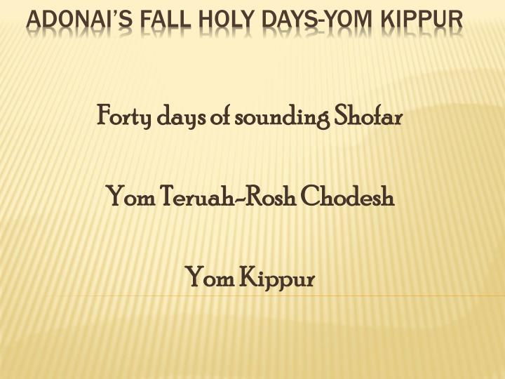 Forty days of sounding Shofar