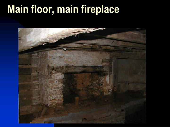 Main floor, main fireplace