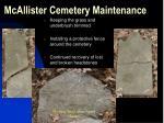 mcallister cemetery maintenance