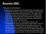 reunion 2003