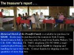 the treasurer s report