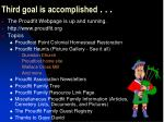 third goal is accomplished