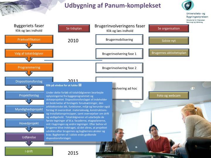 Udbygning af Panum-komplekset