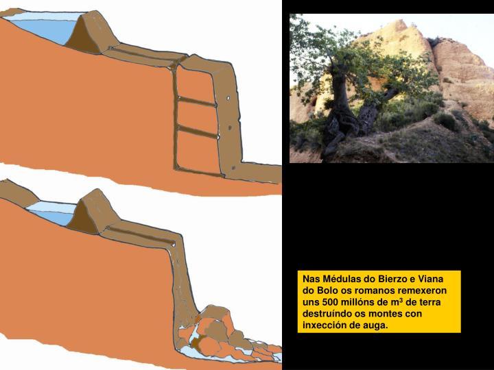 Nas Médulas do Bierzo e Viana do Bolo os romanos remexeron uns 500 millóns de m