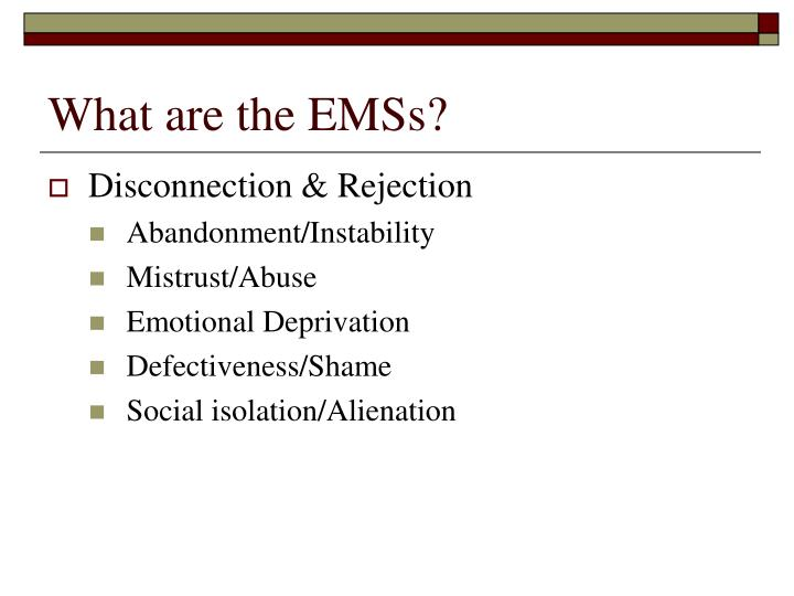 What are the EMSs?