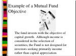 example of a mutual fund objective