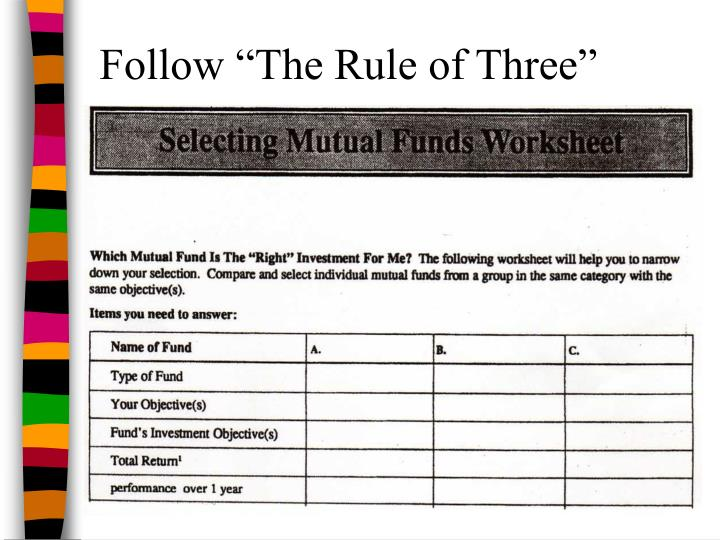 "Follow ""The Rule of Three"""