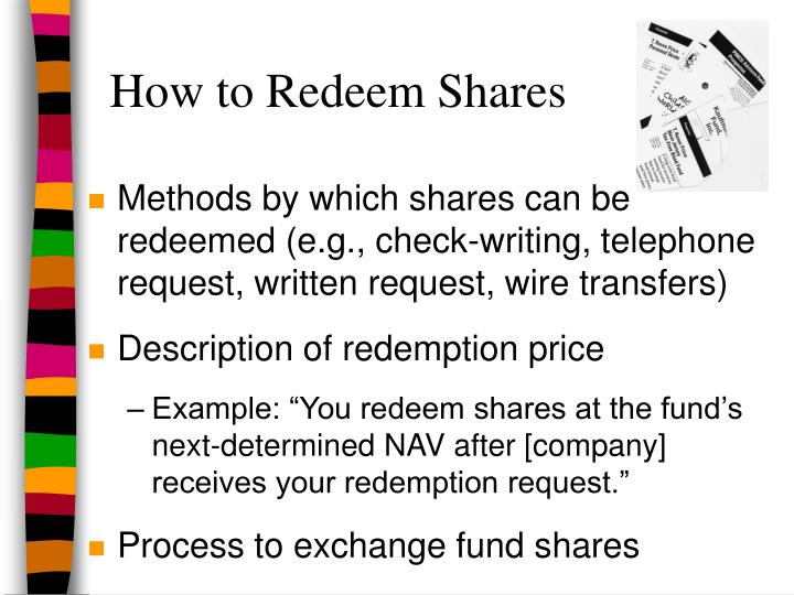 How to Redeem Shares