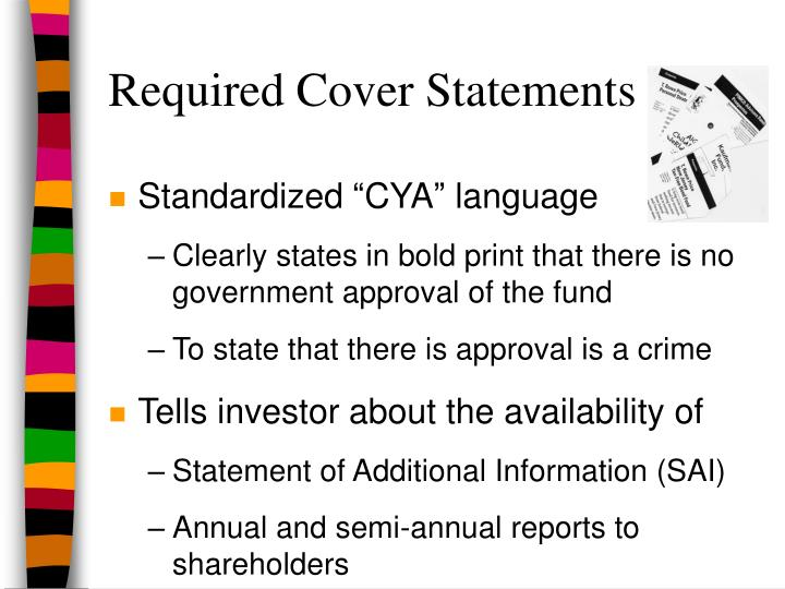 Required Cover Statements