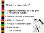 what is a prospectus