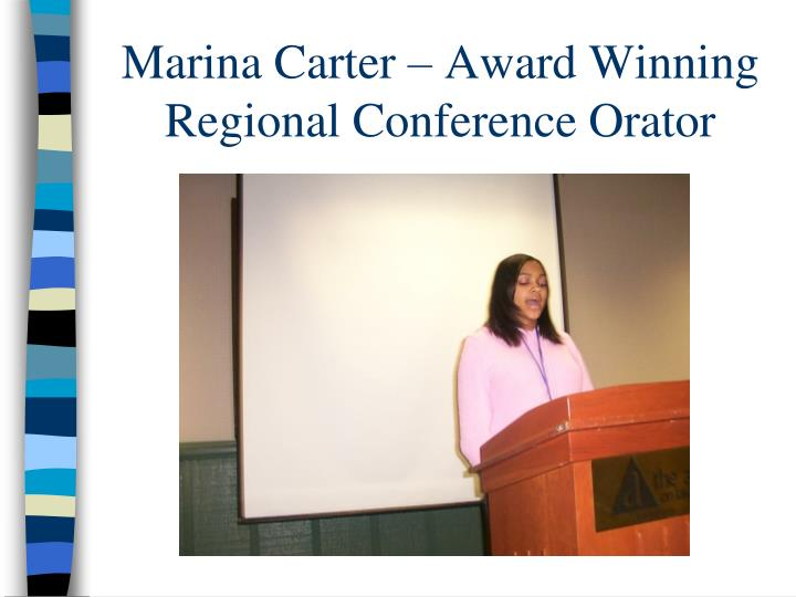 Marina Carter – Award Winning Regional Conference Orator