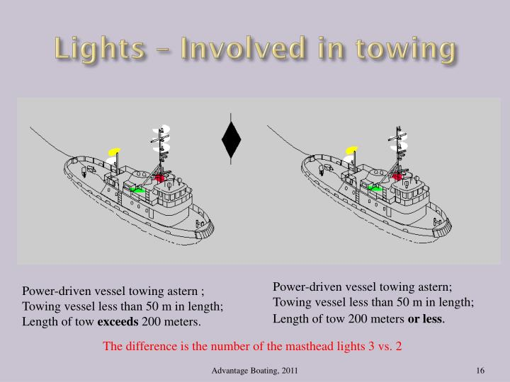 Lights – Involved in towing
