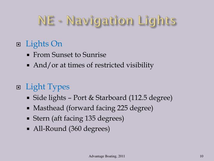 NE - Navigation Lights