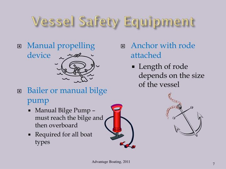 Vessel Safety Equipment