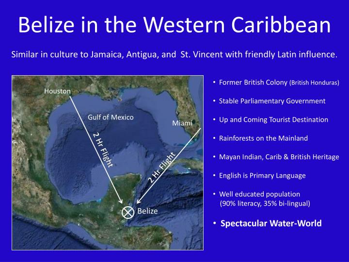 Belize in the Western Caribbean