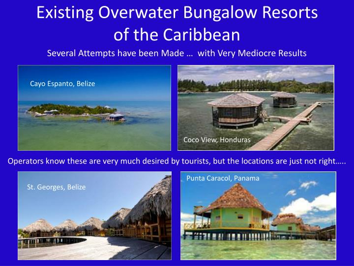 Existing Overwater Bungalow Resorts