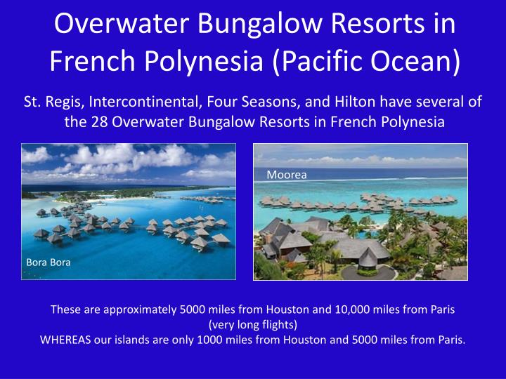 Overwater Bungalow Resorts in French Polynesia (Pacific Ocean)