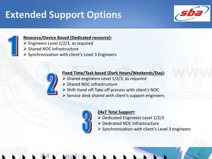 Extended Support Options