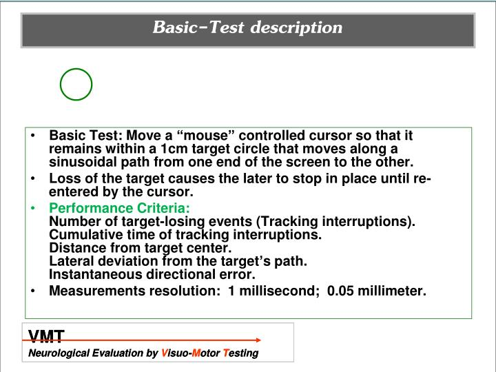 Basic-Test description