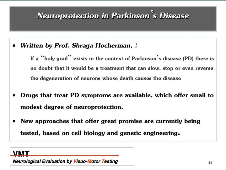 Neuroprotection in Parkinson