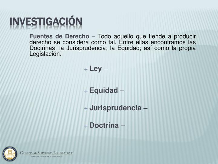 Fuentes de Derecho