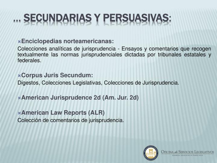 Enciclopedias norteamericanas: