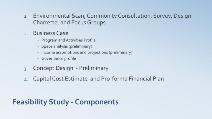 Feasibility study components