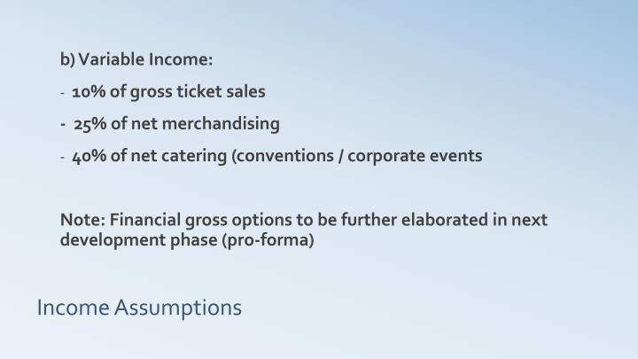 b) Variable Income: