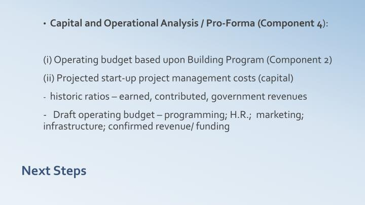 Capital and Operational