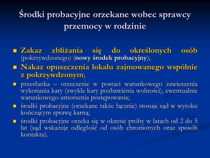 Środki probacyjne
