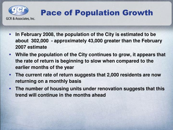Pace of Population Growth