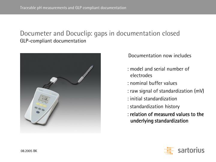 Documeter and Docuclip: gaps in documentation closed
