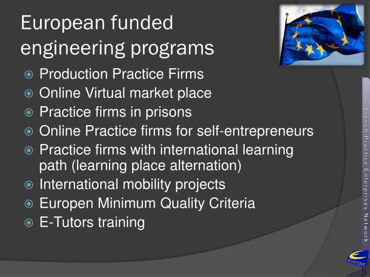European funded