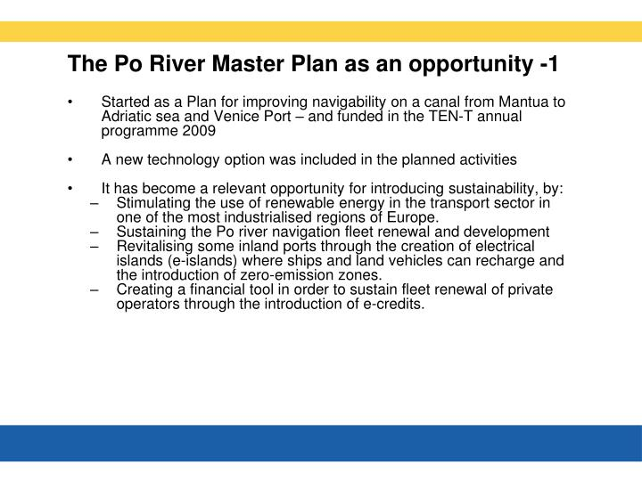 The Po River Master Plan as an opportunity -1