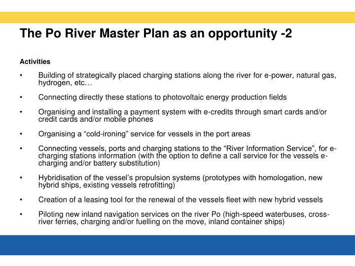 The Po River Master Plan as an opportunity -2