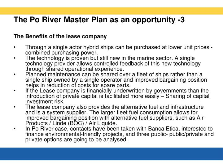 The Po River Master Plan as an opportunity -3
